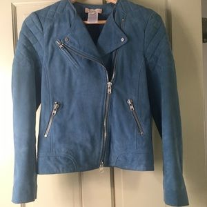 Paul & Joe Sister Blue Suede Moro Jacket